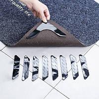Липучки-фиксаторы для ковров угловые 4 шт/наб., Всякая всячина, Липучки-фіксатори для килимів кутові 4 шт / наб.