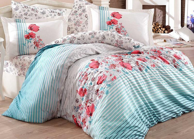 Комплект постельного белья Hobby 4711 Евро, поплин (100% хлопок)