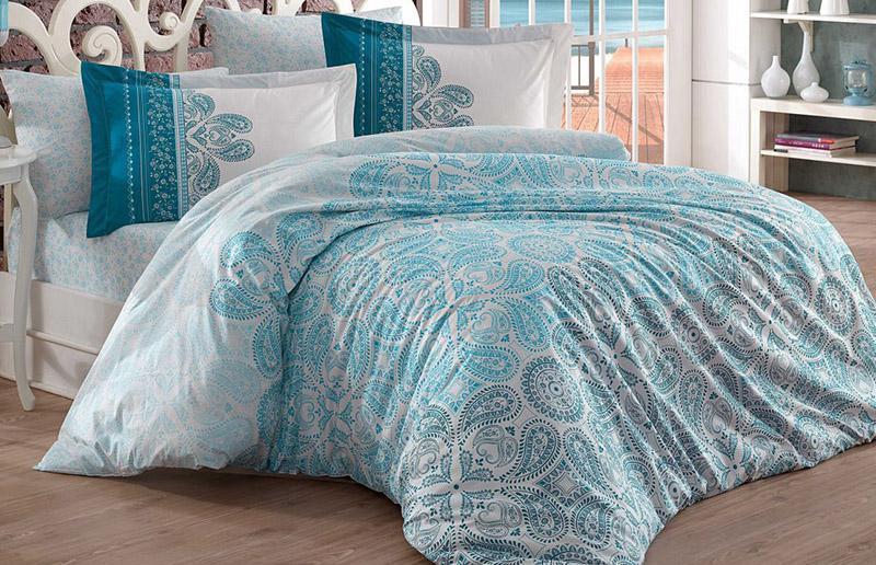 Комплект постельного белья Hobby 4713 Евро, поплин (100% хлопок)