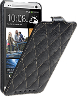 Чехол для HTC One M7 - Vetti Craft flip Diamond Series, черный