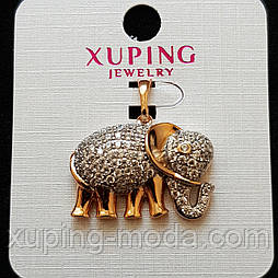 "Кулон ""слоник"" 26x19 Xuping позолота 18к"