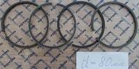 Кольца поршневые комплект на 1 поршень 80 мм (LL480-04010A) ДТЗ Foton DongFeng Xingtai Jinma