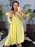 Женское летнее платье-рубашка свободного кроя (в расцветках), фото 2