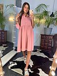 Женское летнее платье-рубашка свободного кроя (в расцветках), фото 3