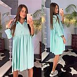 Женское летнее платье-рубашка свободного кроя (в расцветках), фото 5