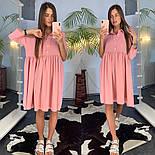 Женское летнее платье-рубашка свободного кроя (в расцветках), фото 6