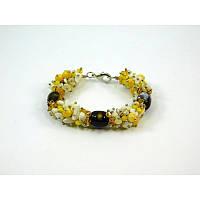 Эксклюзивный браслет с Агату, Изысканный браслет из натурального камня Агат, красивый браслет
