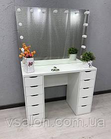 Стол макияжный с зеркалом без рамы V434