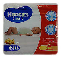 Подгузники Huggies Classic Mega 2 (3-6 кг) - 88 шт.