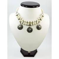 """Эксклюзивное ожерелье """"Настоящая Леди"""", Изысканное ожерелье из натуральных Перлин, Ожерелье белого цвета"""