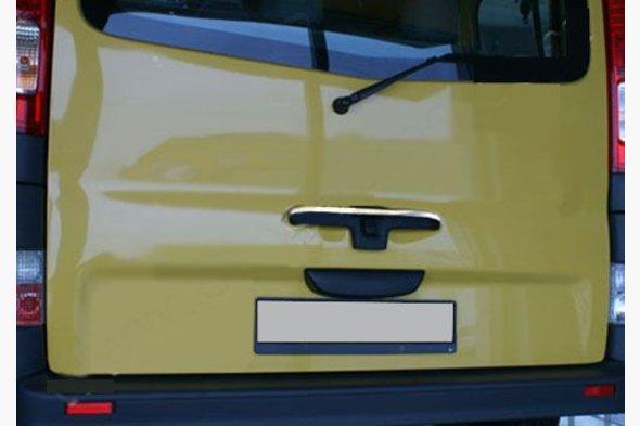 Хром планка на заднюю ручку (верхняя, нерж) Renault Trafic 2001-2015 гг.