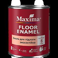 """Эмаль износостойкая для полов TM """"Maxima"""" красно-коричневая (RAL 8012) - 0,7 л."""