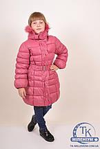 Куртка для девочки из плащевки зимняя (цв.терракотовый) HSWD H18-25 Рост:122,128,134,140,146