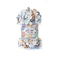 Турецкая пряжа для вязания Alize  PUFFY FINE COLOR (пуффи файн колор ) 5946