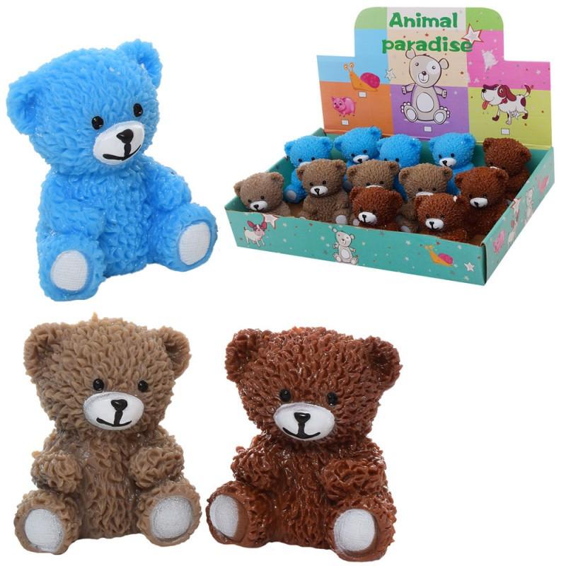 Іграшка антистрес, ведмедик, мікс кольорів, в дисплеї