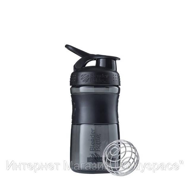 Blender Bottle, Спортивный шейкер-бутылка BlenderBottle SportMixer Black/Black, 500 мл