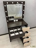 Туалетный столик с полками за зеркалом. Модель V385, фото 1