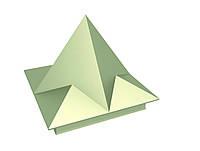 """Колпак на забор """"Пирамида высокая"""""""