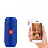 Портативна Bluetooth колонка вологостійка TG117 синя - Копія JBL 100% найгучніша колонка, фото 5