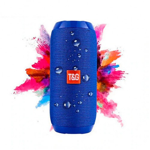 Портативна Bluetooth колонка вологостійка TG117 синя - Копія JBL 100% найгучніша колонка