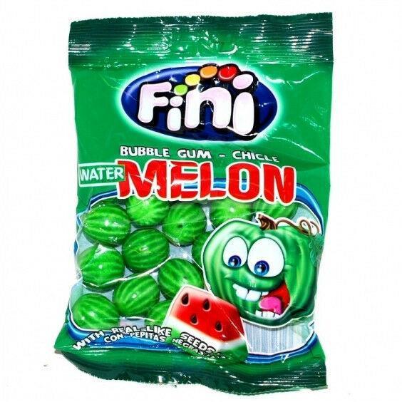Жевательная резинка Fini Melon Gum жвачка Фини Арбуз 100 гр. Испания