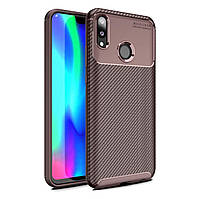 Чехол Carbon Case Huawei Y9 2019 / Enjoy 9 Plus Коричневый