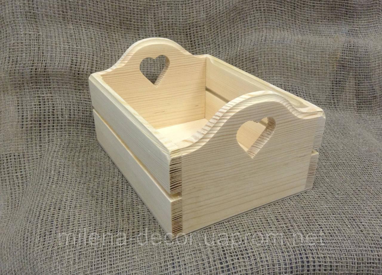 Ящик деревянный на рейках (маленький)