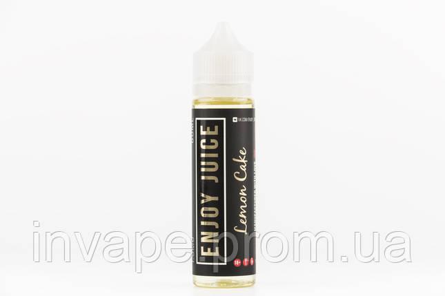 Жидкость для электронных сигарет Enjoy Juice - Lemon Cake (Чизкейк, лимонный сироп) 60мл, 1.5 мг, фото 2