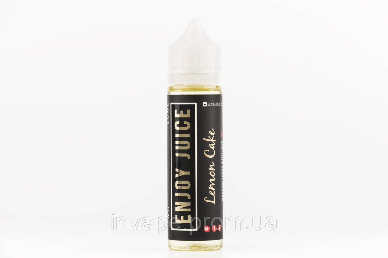 Жидкость для электронных сигарет Enjoy Juice - Lemon Cake (Чизкейк, лимонный сироп) 60мл, 1.5 мг