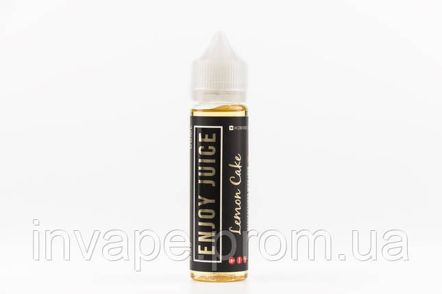 Жидкость для электронных сигарет Enjoy Juice - Lemon Cake (Чизкейк, лимонный сироп) 60мл, 3 мг, фото 2