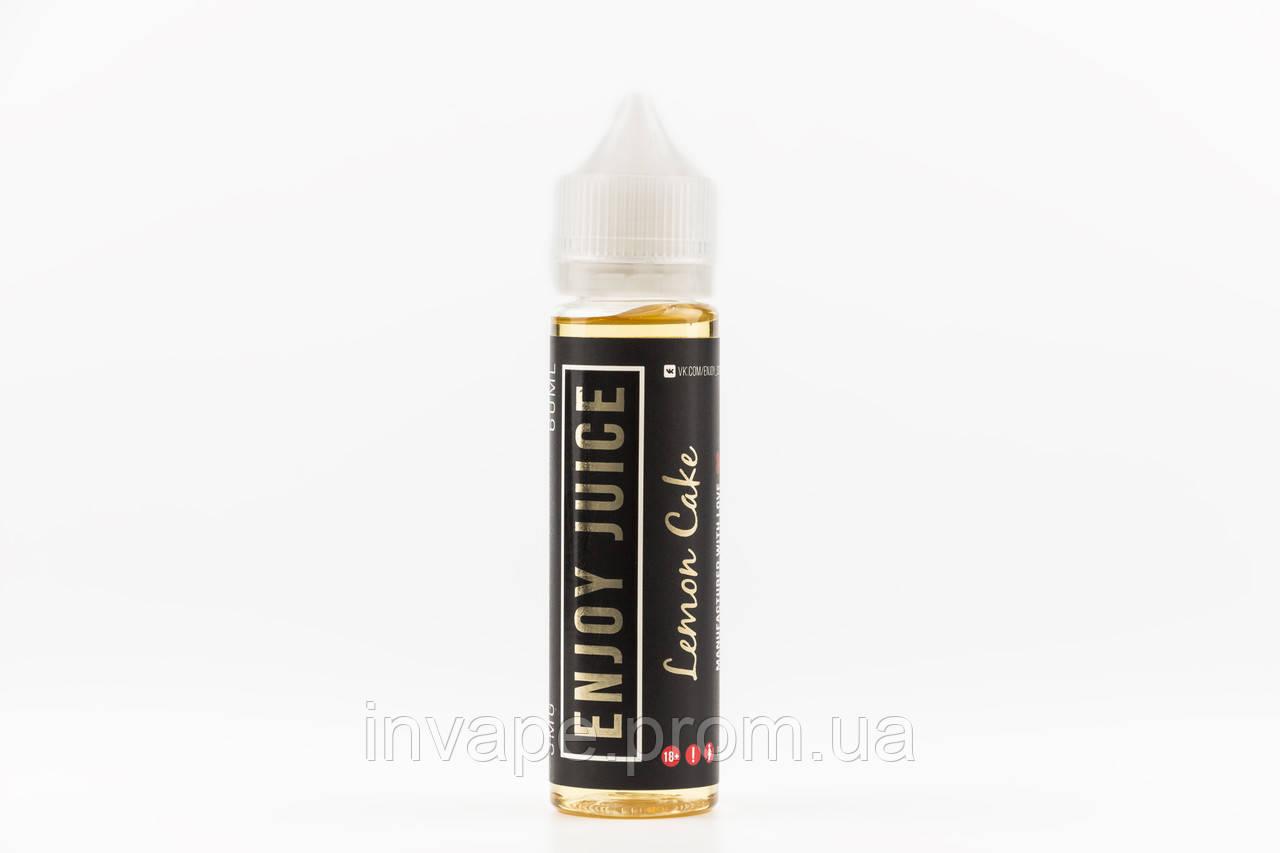 Жидкость для электронных сигарет Enjoy Juice - Lemon Cake (Чизкейк, лимонный сироп) 60мл, 3 мг
