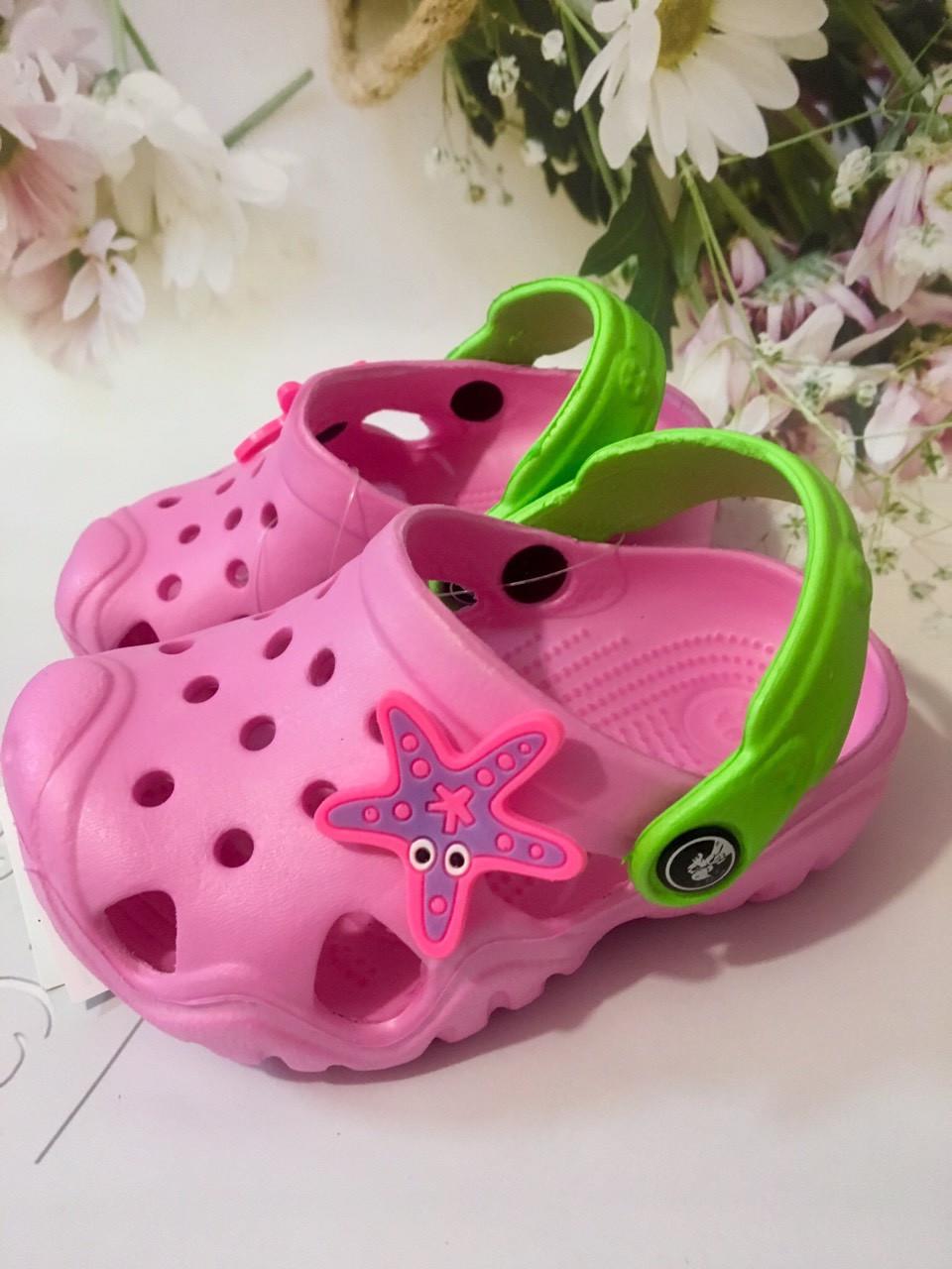 Детские розовые кроксы, сабо для девочки Jose Amorales , размер24-25(без запаха)