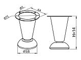 Опора (ніжка) нерегульована конічна GIFF NZ0904 Н=100 Хром, фото 3