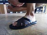 Стильные кожаные тёмно-коричневые шлёпанцы Rondo, фото 4