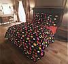 """Семейное постельное бельё с простыней на резинке (12092) хлопок """"Ранфорс"""""""