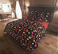 """Семейное постельное бельё с простыней на резинке (12092) хлопок """"Ранфорс"""", фото 1"""