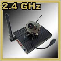 Комплект из беспроводной Мини видеокамеры на 2.4Ghz + приёмник видеосигнала (на выбор) мод. CRP-208N