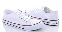 Белые женские кеды, кроссовки в стиле Конверс  Converse
