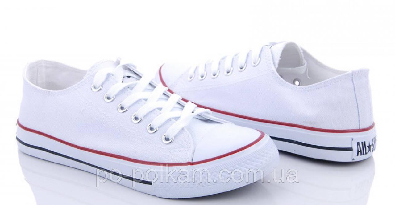 Белые женские кеды, кроссовки в стиле Конверс  Converse, фото 1