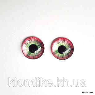 Глазки для игрушек, Стеклянные, 14 мм (2 шт.)