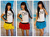 Пышная мини юбка в ярких расцветках 5017
