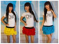 Пышная мини юбка в ярких расцветках 5017, фото 1