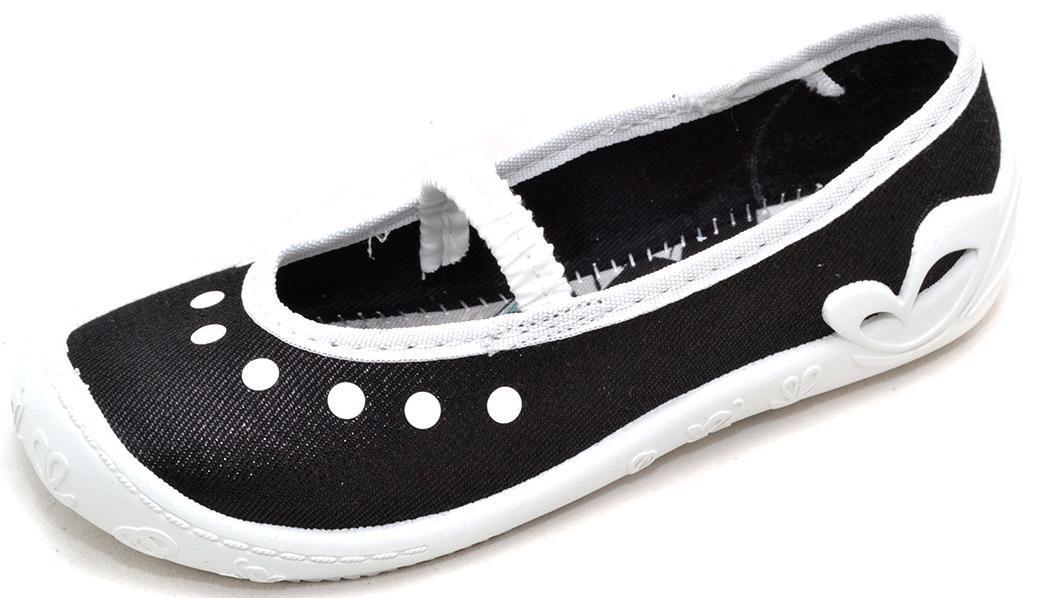 Тапочки на девочку  черные блестящие 3F Prima 08-22-64418 (26р - 16,5см)