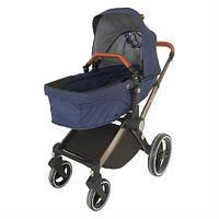 Детская коляска Welldon 2 в 1 (синий) - коляска-трансформер 2 в 1 прогулочный блок и люлька