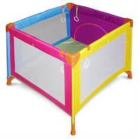 Манеж Wonderkids Rainbow (разноцветный) - безопасная игровая зона для малыша до 3 лет