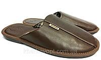Мужские тапочки Белста 41-45 кожзам коричневые