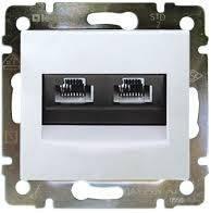 Механизм розетки компьютерной RJ45 кат, 5 UTP 2-й белый Legrand Valena