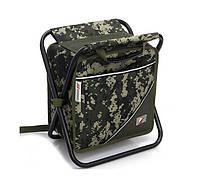 Термосумка-рюкзак-складаний стілець VKS 3201 для туризму 30x38x39 см 18 л 3 в 1 Камуфляж (SUN4390)
