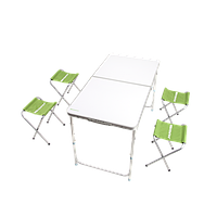Раскладной стол + 4 стула Кемпинг XN-12064