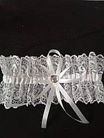 Свадебная подвязка для невесты ажурная белая